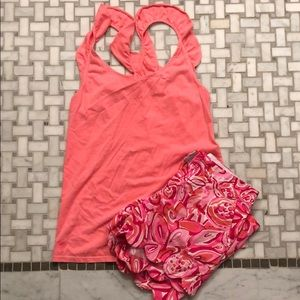 Lilly Pulitzer Tops - Lilly Pulitzer ruffle tank size Small
